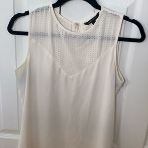 Banana Republic Mesh Bib Blouse